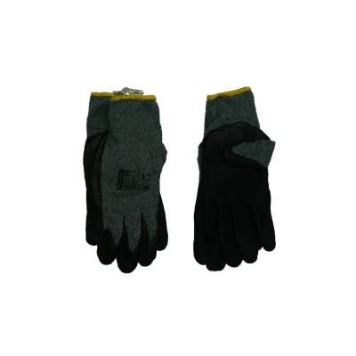 Перчатки х/б серые с латексным покритием