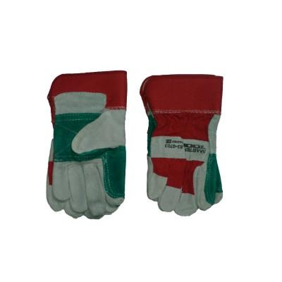 Перчатки спилок+ткань АРТ 4503