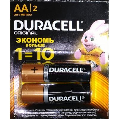 Батарейки DURACELL AA /2 шт./