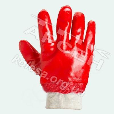 Перчатки маслобензостойкие красные АРТ 4518