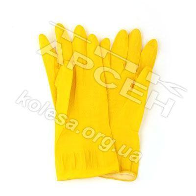Перчатки хозяйственные желтые
